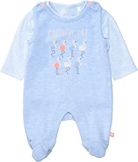Organic Cotton Strampler mit Shirt Flamingo - Light Blue