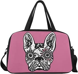 InterestPrint Sugar Skull Duffel Bag Travel Tote Bag Handbag Luggage
