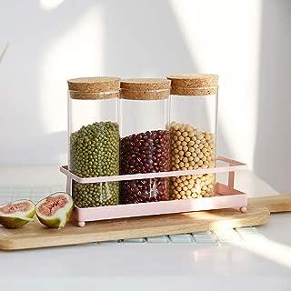 ZGXY Spice Rack Food Corner Storage Kitchen Container Organizer for Spices, Condiments, Baking Supplies-W