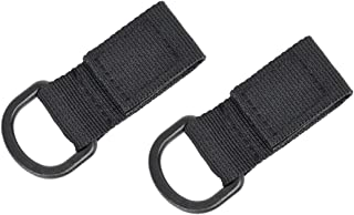 partstock 2-Pack Tactical Molle D Type Nylon Velcro,Backpack Accessories, T-Ring Kettle Key Holder,for Molle Bags Webbing Attachment Strap.