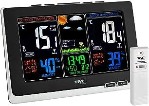TFA Dostmann Spring weerstation, voor binnen en buiten, draadloze buitensensor, meet luchtvochtigheid, dauwpunt, incl. rad...