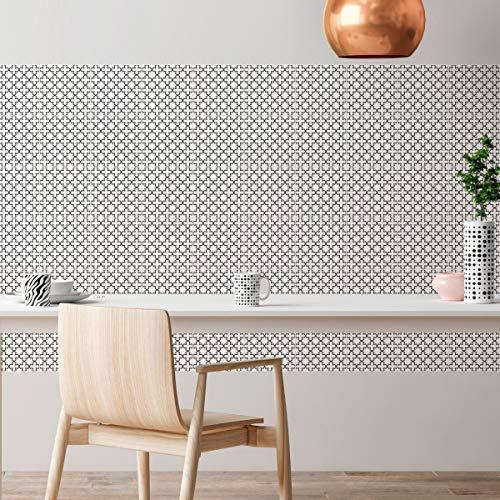 Tegelstickers zelfklevende cementtegels - wanddecoratie sticker tiles voor badkamer en keuken - cementtegels zelfklevend - 20x20 cm - 60 stuks
