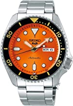 Seiko SRPD59 5 Sports 24-Jewel Automatic Watch - Orange