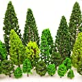 MOMOONNON 36 Pieces Model Trees 1.36-6 inch Mixed Model…