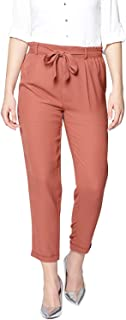 ALIYAA Casual wear Regular fit Cropped Belted Trouser for Women and Girls(Pack of 1)(Free Size fit to 28 to 36 Waist Size)...