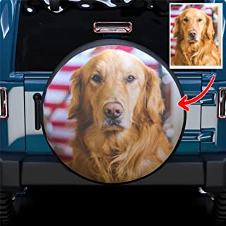 BangChui-Shop Vintage Sunset Hawaii Summer Beach Aloha Waterproof Spare Tire Cover Fits for Trailer RV SUV Truck Campers Travel Trailer Accessories 14,15,16,17 Inch