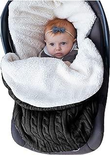 Newborn Baby Swaddle Blanket Wrap, Thick Baby Kids Toddler Knit Soft Warm Fleece Lined Blanket Swaddle Sleeping Bag Sleep Bag Stroller Unisex Wrap for 0-12 Month Baby Boys Girls (Black)
