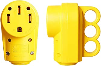 Yellow EPICORD Superior 125//250V 50Amp Heavy Duty RV Female Replacement Receptacle Plug with Ergonomic Handle for camper Travel Car