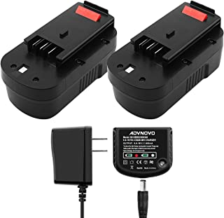 ADVNOVO 3.5Ah 18V Ni-MH Battery and Charger Compatible with Black and Decker HPB18 244760-00 A1718 HPB18-OPE A18 Firestorm FS180BX FS18BX FS18FL FSB18 (2 Batteries and 1 Charger)