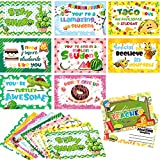 Thinking of You School Postcards Motivational Inspiration Accents for Teachers to Send To Students, 9 Styles, 4 x 6 Inch Encouragement Notecardsfor Home School Classroom Preschool (72 Pieces)