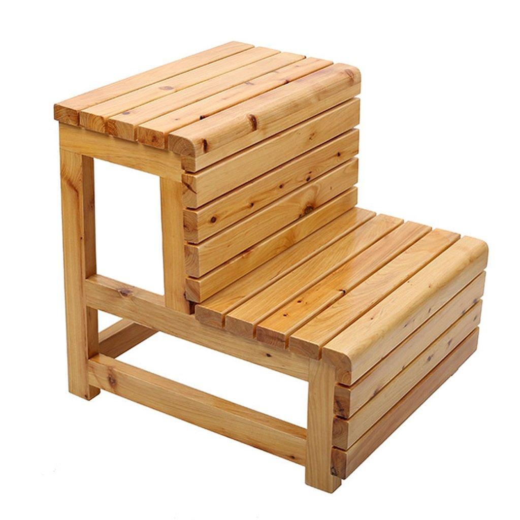 Taburetes de peldaños taburetes de madera maciza taburetes de escalera de dos niveles taburetes de bañera escaleras de madera antideslizamiento impermeable antideslizante (Color : Chestnut) : Amazon.es: Hogar