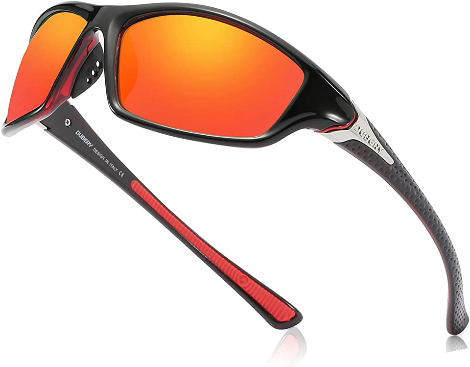 Polarized Sports Sunglasses for Outdoor Cycling Skiing Driving Golf Running Fishing,Tr90 Superlight Frame Fashion Shades(UV400 Unisex)