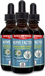 Nerve Factor - Liquid Nerve Support Supplement - Help Support Blood Flow and Calm Relaxation - Turmeric, B-Vitamins, and P...