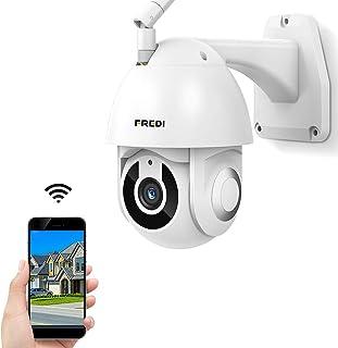 FREDI Cámara IP Exterior Cámara de Vigilancia con IR Vision Nocturna IP65 Impermeable Seguridad Inalámbrica Cámara HD 1080P /Audio Bidireccional/Detección de Movimiento