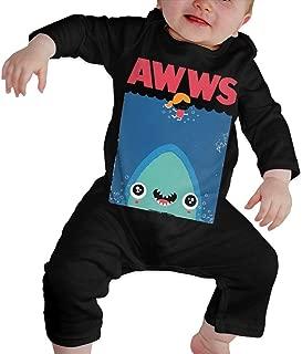 HOUFOUCC AWWS Baby Onesie Organic Long-Sleeve Bodysuit