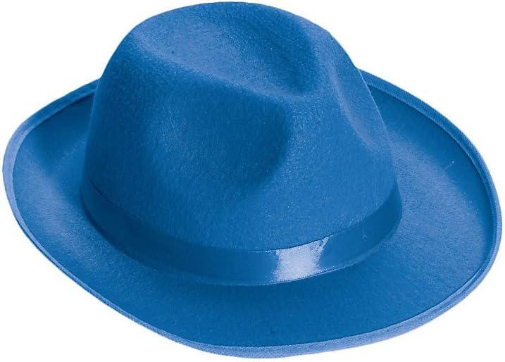 Forum Novelties Deluxe Fedora, Blue