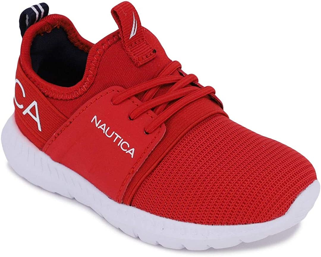 Toddler//Little Kid Nautica Kids Boys Lace-Up Fashion Sneaker Breathable Athletic Running Shoe