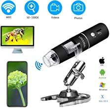 Wireless Digital Microscope,YINAMA 50x to 1000x Magnification Microscope Camera,8 LED Mini Pocket Handheld Microscopes with 1080P 2MP, Compatible with Android Smartphone,iPhone,Tablet, Windows Mac