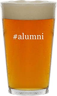#alumni - 16oz Hashtag Clear Glass Beer Pint Glass