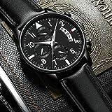 Eantpure Inoxidable Analogicos Fecha, Resistente al Agua, Reloj de Hombre,Reloj de Cuarzo, Moda, Casual, Reloj con cinturón-G,Impermeable Fecha,Relojes.