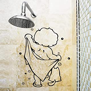 Shower Glass Door Stickers Kids Bathing Wall Stickers Cute Waterproof Removable for Baby Bathroom Decor Stickers Wall Art ...