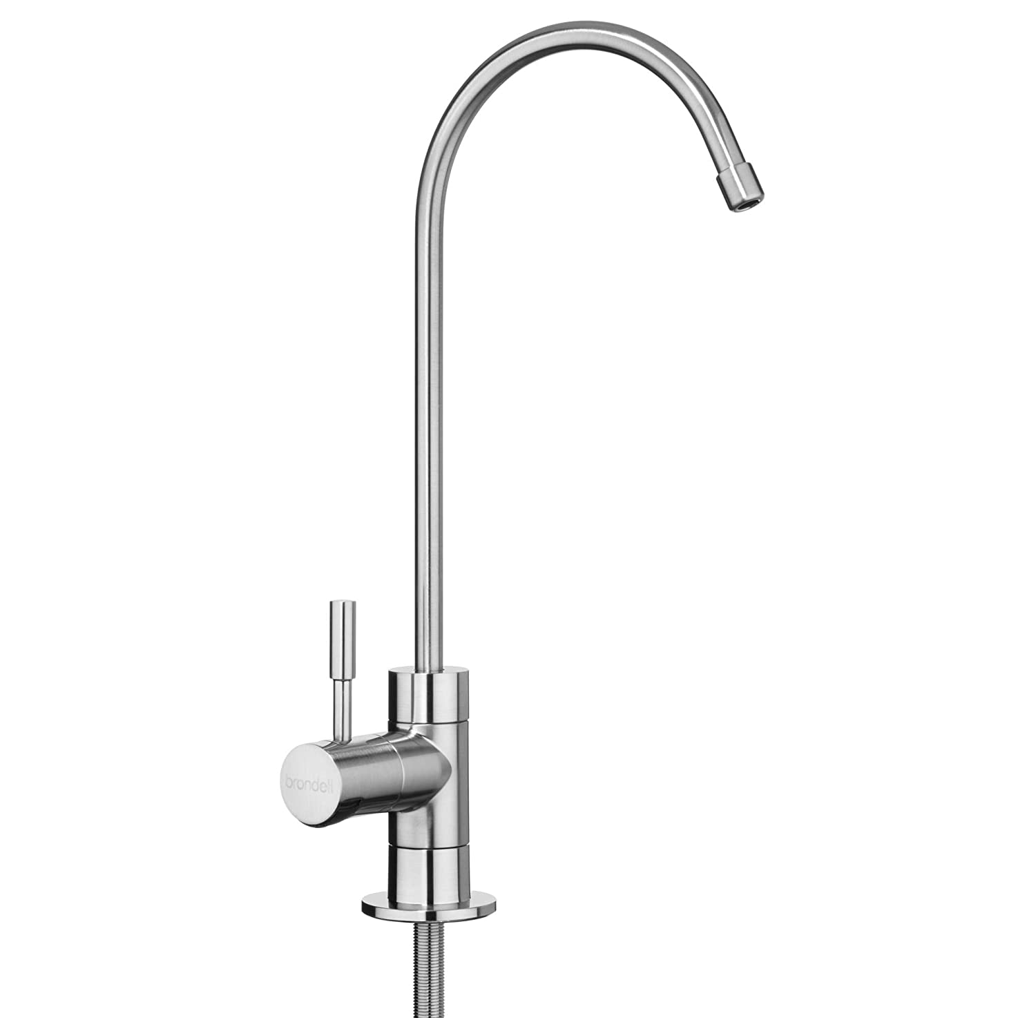 Brondell - Water Filter Faucet in Brushed Nickel with LED filter change indicator | sink faucet for Circle RO System 6 month filters | Modern style in Nickel | Only for use with Brondell Circle RO