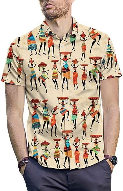 Camiseta de los hombres Camisa estampada estilo indio para ...
