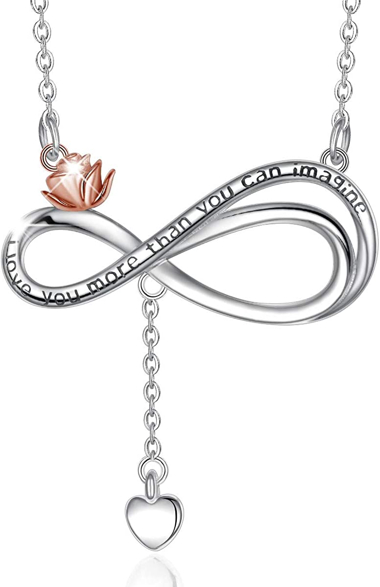 CELESTIA Sterling Silver Infinity Heart Women Bombing new work Necklace Gold- Branded goods for