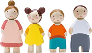 Tender Leaf Toys - The Leaf Family - Happy Wooden Family Dolls Playset Figures of 4 People for Children Kids Pretend Play Doll House