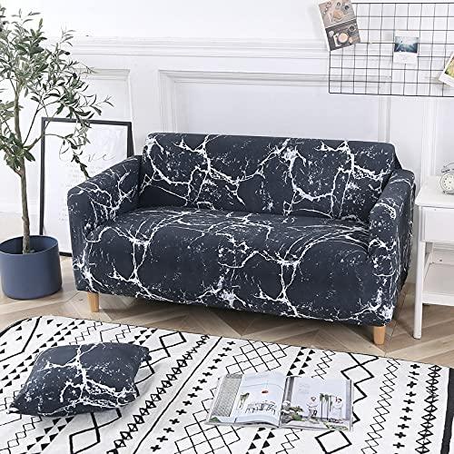 ASCV Fundas de sofá con Estampado de Rayas Modernas Fundas de reposabrazos Funda de sofá con Todo Incluido Funda de sofá seccional elástica Estilo L A2 3 plazas