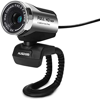ANTZZON 1080P Full HD Webcam, Built-in Noise Reduction Microphone Stream Webcam for Video Conferencing, Online Work&Course,YouTube, Recording and Streaming,Suit for Microsoft Teams