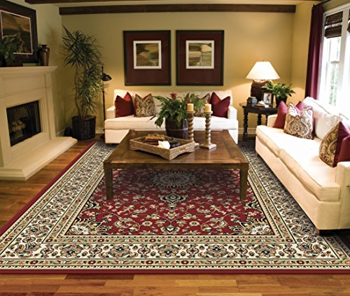 Large Rugs for Living Room Red Traditional Clearance Area Rugs 8x10 Under 100 Prime Rugs