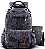Diaper Bag Multi-function Dark Grey Large Baby Diaper Bags Backpack, backpacks With Stroller
