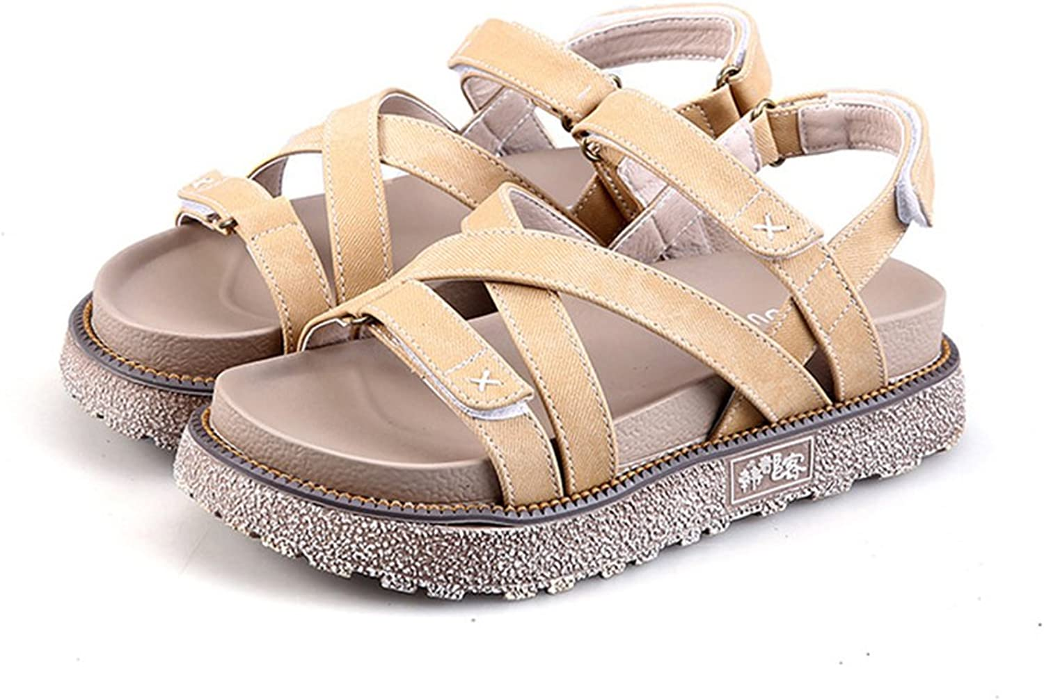 Tuoup Women's Fashion Leather Sandles Anti-Skid Lady Sandals