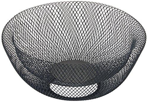 NIFTY 7541BLK Black Double Wall Mesh Decorative Fruit Bowl, 5 quart/12
