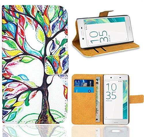 Sony Xperia X Compact Handy Tasche, FoneExpert® Wallet Hülle Flip Cover Hüllen Etui Ledertasche Lederhülle Premium Schutzhülle für Sony Xperia X Compact