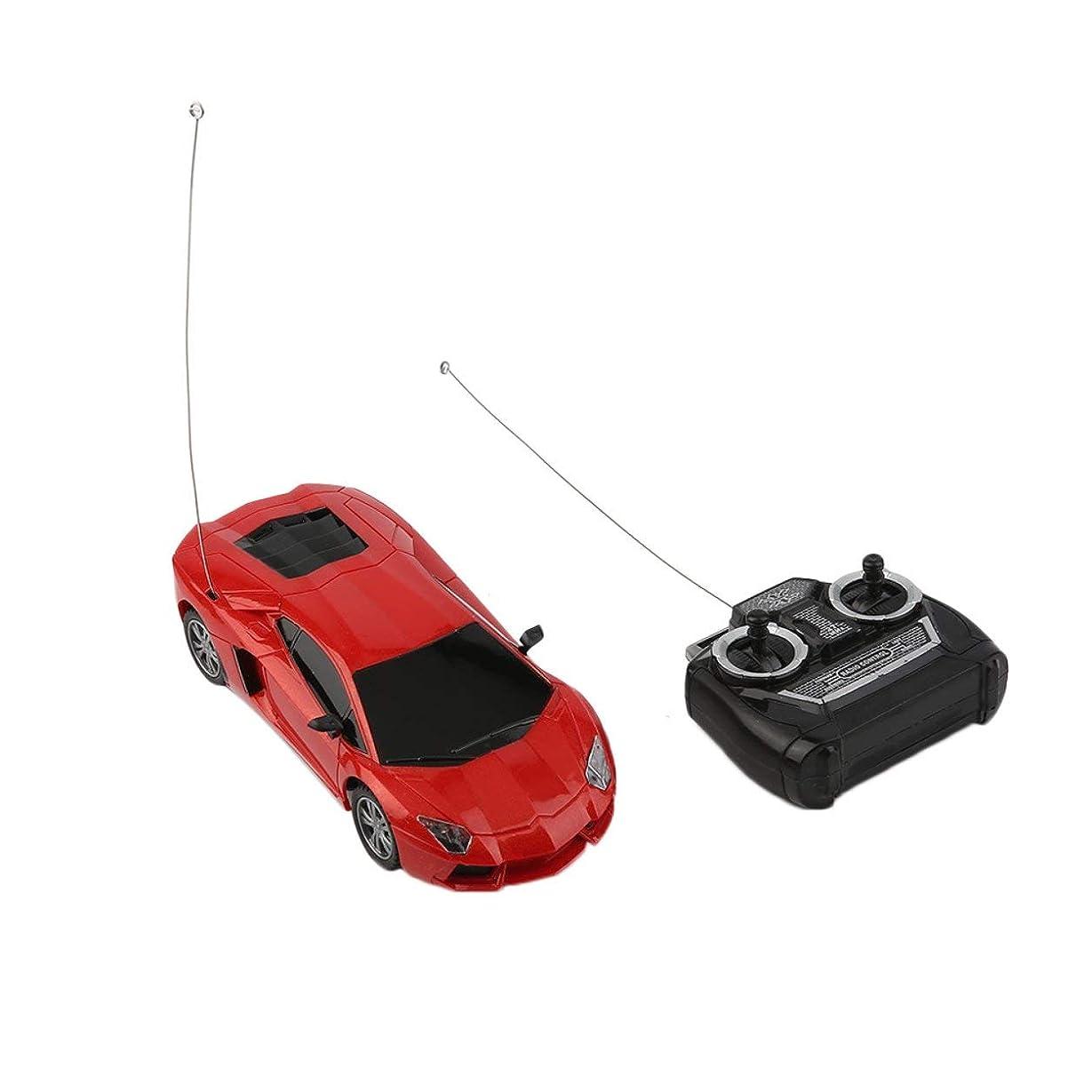 スケッチ持続的分割1:24子供キッド電気リモコンのおもちゃ4チャンネルレーシングカーのおもちゃ、赤