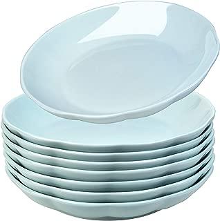 AnBnCn Porcelain Pasta/Salad Bowls - 22 Ounce - Set of 8, Mint_Colored