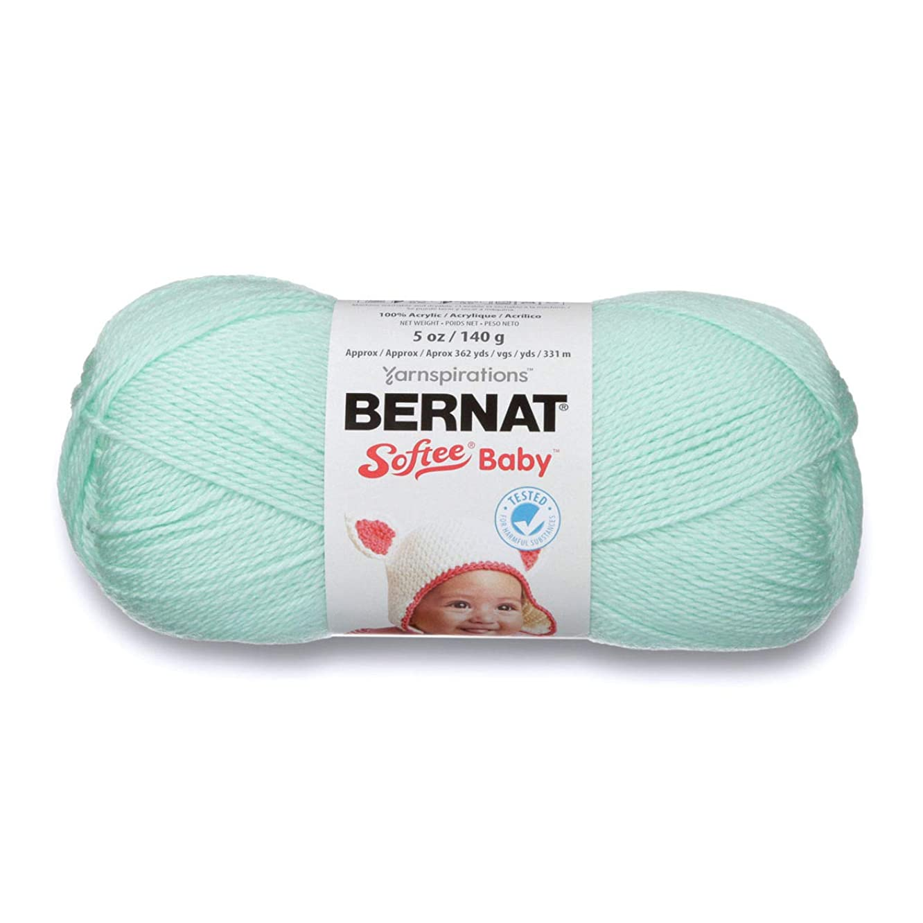Bernat Softee Baby Yarn, 5 oz, Gauge 3 Light, Mint