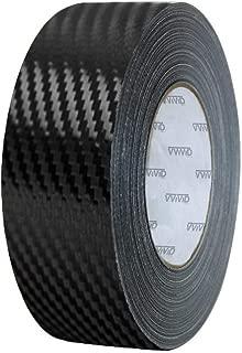 VViViD Black Carbon Fiber Air-Release Adhesive Vinyl Tape Roll (12 Inch x 20ft)