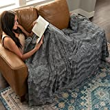 Softest Warm Elegant Cozy Faux Fur Home Throw Blanket by Graced Soft Luxuries (Solid Gray, Extra Large 60' x 80')