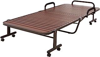 アイリスオーヤマ ベッド 折りたたみベッド すのこベッド シングル 収納  ハイタイプ ブラウン OTB-WH