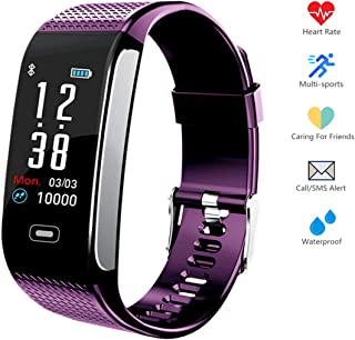 Hocent Fitness Tracker, Activity Fitness Watch Waterproof Pedometer with Sleep Heart Rate Monitor Step Calorie Track Call SMS SNS Alert Stopwatch for Men Women Teens Compatible for Android and iPhone