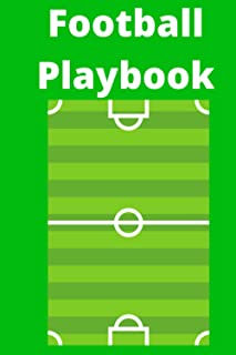 Football Playbook: A Notebook for Any Level of American Football Coaches to Diagram Plays | New Dad's Playbook | The Every...