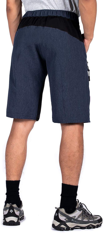 Wespornow Herren MTB Kurze Hose Schnelltrocknend-Atmungsaktiv MTB Bike Shorts-Mountainbike Hose Wasserabweisend-Fahrradhose mit Rei/ßverschlusstaschen