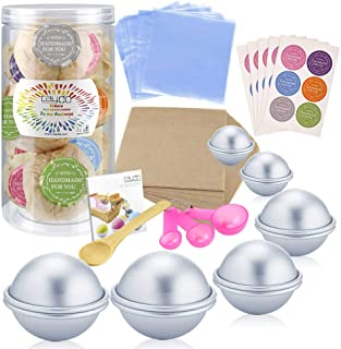 Caydo 176 Pieces DIY Bath Bomb Molds Set with Instructions Including 12 Pieces 3 Size DIY..
