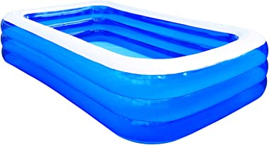 """actoper Inflatable Swimming Pool, 120"""" X 72"""" X 24"""" Full-Sized Family Kiddie Blow up Pool, 0.5mm PVC Material Infl"""