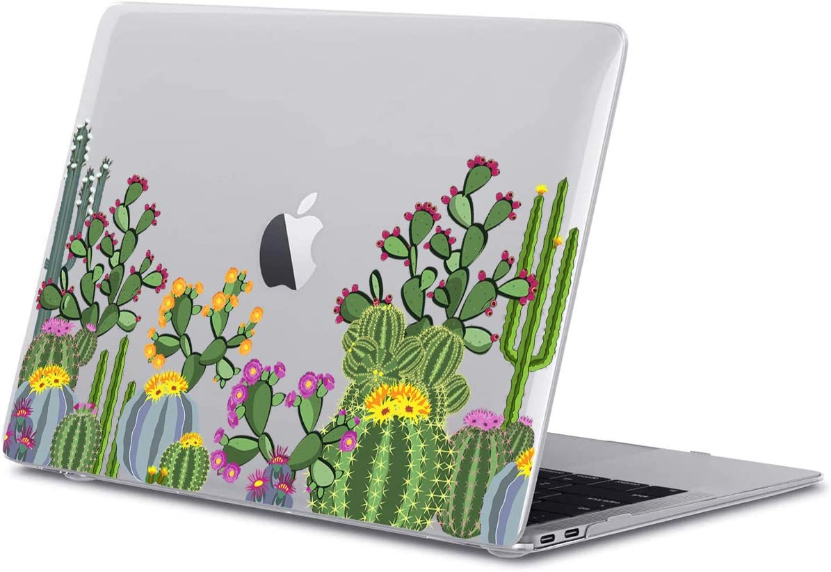 GoldSwift Matte Rubberized Hard Shell Laptop Clear Case Cover for MacBook Pro 16 Inch Model Number A2141 (Cactus)