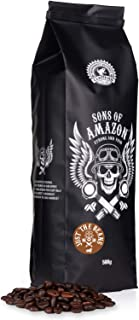 Sons of Amazon, Dark Roast Coffee Beans (Just The Beans) - 500g - Australia's Strongest Coffee (Arabica + Robusta) - Rainf...