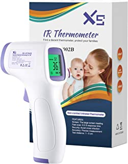 Forehead Thermometer for Adults,Non-Contact Accurate Temperature Gun with LCD Display, Fever Alarm and Memory
